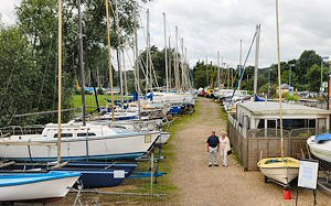 Our main riverside yard with a host of boats always on display
